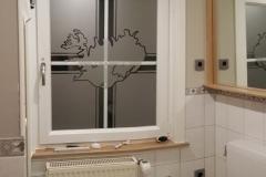 Fenster mit Sprossen und Milchglasfolie