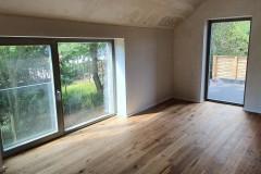 Bodentiefe Fenster aus Holz mit Absturzsicherung