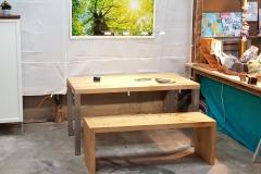 Esstisch mit Sitzbank aus Ahorn