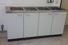 Laborschrank mit 4 Spülbecken