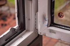 RC 3 Fenster nach einem Aufbruchversuch