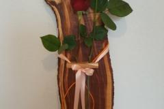 Wanddeko aus Pflaumenbaum