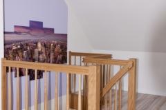 Freigeländer zur Treppe in Eiche mit Krümmling