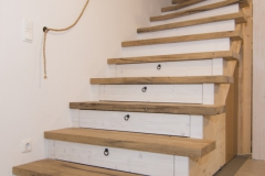 Treppe aus alten Eichen Fachwerk